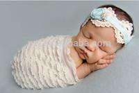 New Arrival 150cm Baby Ruffle Stretch Wrap Newborn Props