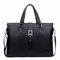 2014 new fashion men briefcase brand leather portfolio bag messenger travel business shoulder office bag men  BG0224