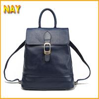 New Fashion Multi Function Genuine Leather Backpack Women Shoulder Bag Rucksack Brown,Navy Blue, Black Free Shipping