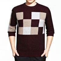 brand higth quality winter 2014 new business casual slim fit men's sweater Turtleneck crewneck mink fleece sweater