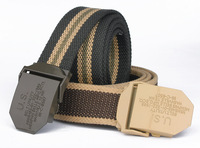 2014 new Men's wild accessories for men and women weave buckle canvas belt men's outdoor jeans casual canvas belts automatically