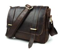 New Arrival ! Hot sale Genuine leather Male handbags Crazy horse leather messenger bag  Men's Shoulder bags