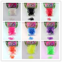 300pcs Package Rubber Band Loom Bands Girls DIY Bracelet Opp Bag DIY TOY BRACELET