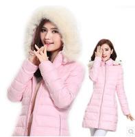 New 2015 women winter thick down good quality fashion Slim coat autumn long parkas fur collar plus size XXL