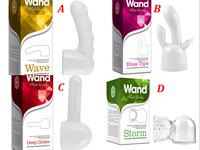 4pcs Attachment head for Magic Wand (Massager Vibrator  Body Massager )  - Design A B C D