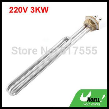 Серебряный тон трубчатые водонагреватель электрический нагревательный элемент 220 ...