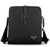 Knitting pattern black men briefcase bag business men's Casual shoulder Messenger bags wholesale agent  portfolio man bag bg0231