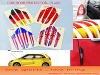 4Pcs/Set, Flags Car Door Anti Scratch Protector,Flexible Fiber Door Side Edge Protection Guards Stickers,free shipping Global