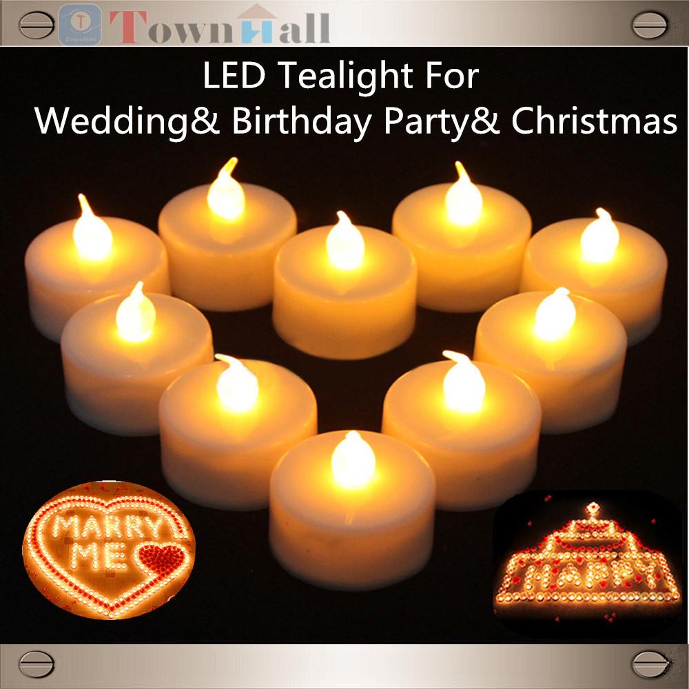 12 pcs LED Tealight Batt