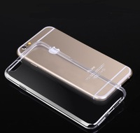 2014 New  Super Flexible 0.3mm Ultra Thin Clear Tpu Case for iphone 6 4.7 inch Crystal Simple Back