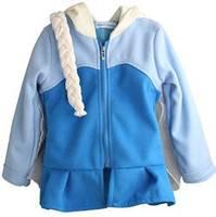Retail Free shipping Autumn Winter New Arrival frozen elsa hooded jacket + braid set,girls jacket,girls cartoon coat