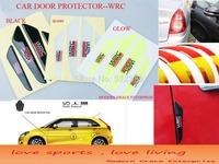 4Pcs/Set, WRC Car Door Anti Scratch Protector,Flexible Fiber Door Side Edge Protection Guards Stickers,free shipping Global