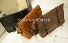 Fashion 14″ Notebook Shoulder Bag Laptop Messenger Bag Classic PU Leather bag + Free Shipping Drop Shipping