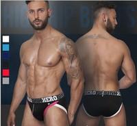 Pink Hero Print Sexy Underwear Men Briefs Calzoncillos Hombre Slips Men's Briefs 6pcs/lot brand cueca sexy hot masculinas1228