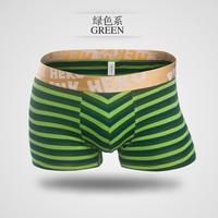 Pink Hero Sexy Striped Boxers Underwear Men Cueca Men Boxer Shorts Cotton 7PC/lot Pull in 7Colors M-XXL New Arrival Wholesale