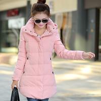 Women's clothing 2015 NEW FASHION winter coat women winter jackets medium-long down cotton plus size coat ladies winter coat