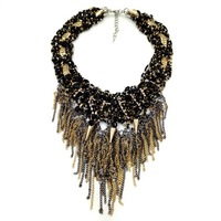 2014 NEW Z chain tassel fashion necklace collar bib Necklaces & Pendants costume statement necklace choker Necklaces for women