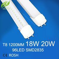 Wholesale 10pcs/lot T8 Led Tube 1200mm 20W Super Brightness SMD2835 Bulbs Tubes Light Fluorescent Tubetes AC165-265V