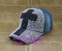 Newt design fashion baseball cap full rhinestone crystal Cross shaped denim snapback caps for women high quality snapbacks hats