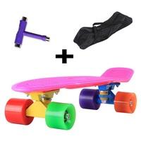 "22"" Penny Style Skateboard girl boy Backpack Skate fish Mini Cruiser longboard Complete + T tool + Penny Bag DIY Color"