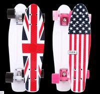 "DIY Color 22"" Printed penny skateboard Retro Cruiser old school mini longboard skate long board Complete 5#"