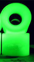1 SET(4 PCS) Blank Pro Glow in dark PU Wheels 60mm*45mm Fiits Penny Board Skateboard Skate Board Mini Longboard White