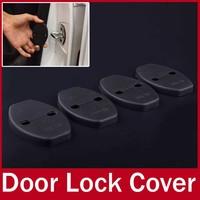 4pcs/lot Car Doors Lock Cover Sticker Protecting Cover Kit Fit for VW MK6 Audi Skoda Porsche