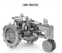 F10341   1Pcs ZOYO Genuine 3D Puzzle DIY Metal Model Farm Tractors