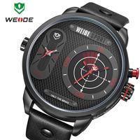 Watch Man Brand Weide New Men's Watches Quartz Sport Watches Leather Strap Men's Reloj Business Casual Fashion Wristwatches