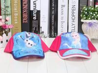 Olaf Elsa Baseball Cap  Blue Children Sun Hat Adjustable Hip Hop Cap