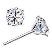 925 sterling silver earrings super flash diamond earrings wholesale Korean Switzerland sterling silver jewelry earrings hypoalle