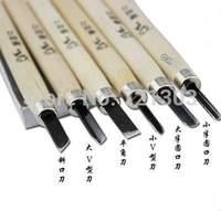 6pcs/set New Wood Handle Carving knife Mini Chisels Tool Kit Carpenters DIY Handy Tools Set Free Shipping