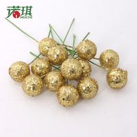 Shallops 10cm size gold fruit powder christmas decoration christmas tree decoration supplies ,30 pieces