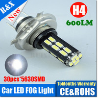 2pcs DC9V-14V H4 5630 30SMD LED car headlight Xenon white 6000K High Low beam car headLights Replaces Halogen & HID Bulbs