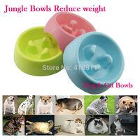 Pet Dog Puppy Cat Kitty Non Slip Slow Feed Feeding Bowl Bloat Dish Feeder Bowls