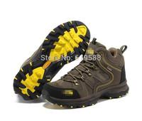 New 2014 Men Non-slip High Hiking Shoes Male Trekking Shoes Outdoor Genuine Leather Antiskid Mountain Climbing Shoe Fashion