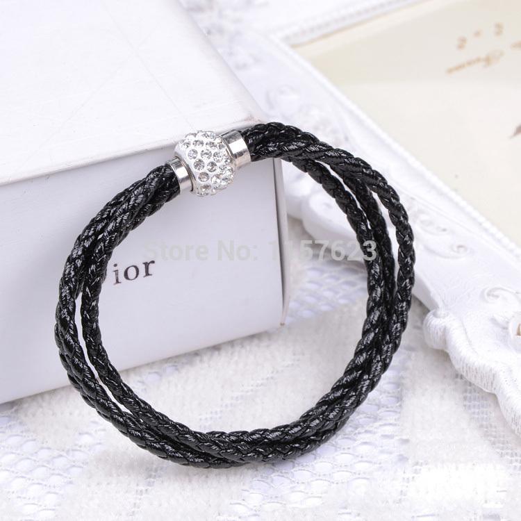 (minimum order $10) leather studded bracelet European and American fashion mix and match Cikou influx of goods Bracelets(China (Mainland))