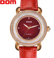 Dom brand women dress watches ladies leather quartz watch women wristwatches woman casual fashion luxury watch relogio feminino