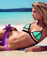 2015 New Arrival Triangle Bikini Swimwear Sexy Brazilian Swimsuit Women Thong Biquini Free Shipping 1491