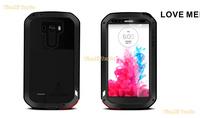 LOVE MEI Aluminum Powerful Waterproof Metal Case For LG G3 + Gorilla Glass MOQ:5pcs