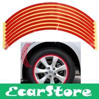 8mm Red Car Wheel Rim Reflective Tape Stripe Decal Sticker