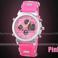 Teenage Watch Women Unisex  Sports Fashion Casual  Wristwatches Dual time Digital Analog Quartz Watch Watches Relogio Masculino