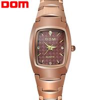 Dom brand women dress watches ladies quartz tungsten steel watch women wristwatches woman casual fashion watch relogio feminino