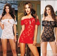 Free shipping, Sexy Lingerie Lace Dress + G String Sleepwear, Sexy Costumes, Kimono ,Sexy Nightgowns,Sexy Pajamas