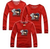 BIG SALE 1 piece retail family t shirt kiss Together family tees love baby dad mum family t shirts long sleeve PANYA DBR13