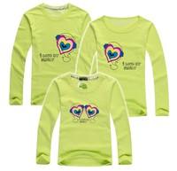 11.11 BIG SALE retail LOVE family t shirt long sleeve lovers tee family shirt baby dad mum parent-child clothes PANYA QCX08