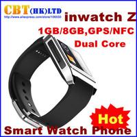 "HOT inWatch Z 1.63"" IP57 Waterproof Android 4.2 Smart Watch Phone RAM 1GB ROM 8GB Dual Core 1.2GHz Single SIM GSM GPS NFC 5.0MP"