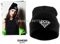 autumn & winter diamond hat for women knitted slouchy beanie,Spain gorros womens bonnet,Skull Chunky Baggy  warm head Cap,WTL