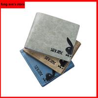 Leather BrandMen Wallets Multifunctional Short Design men wallet Coin purse Card Holder A variety of colors