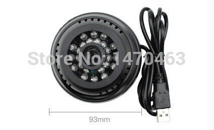 Wholesale Surveillance cameras monitor camera TF card VGA640*480 3GP home surveillance video Indoor 24pcs IR Leds Free shipping(China (Mainland))